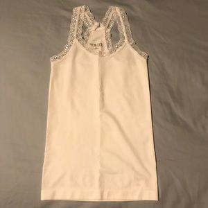 BONGO White Lace Racerback